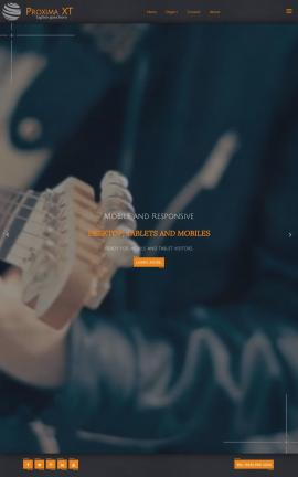 Proxima Music Website Template