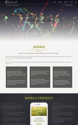 Adama Dance Dreamweaver Template
