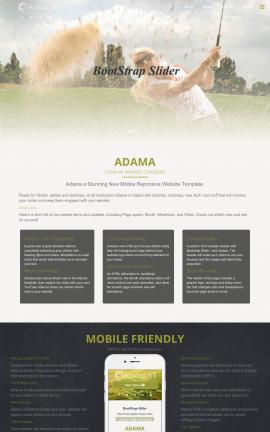 Adama Golf Website Template