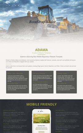 Adama Heavy-machines Dreamweaver Template