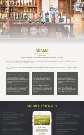Adama Pub Website Template
