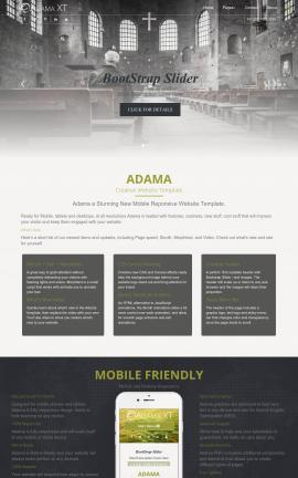 Adama Religion Website Template