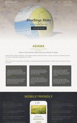 Adama Volleyball Website Template