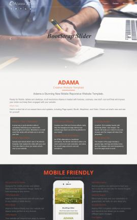Adama Accounting Website Template