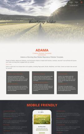 Adama Agriculture Website Template