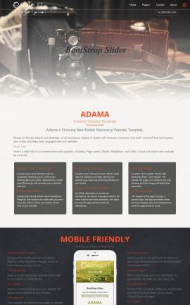 Adama Antiques Dreamweaver Template