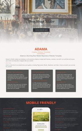 Adama Art-supplies Website Template