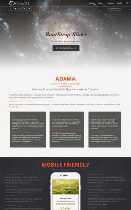 Adama Astronomy Website Template