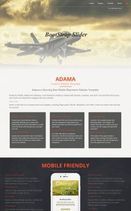Adama Aviation Website Template