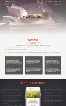 Adama Bed-and-breakfast Website Template