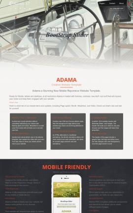 Adama Boating Website Template