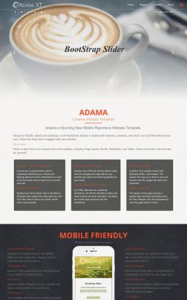 Adama Cafe Website Template