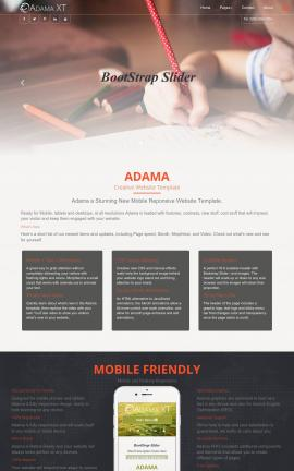 Adama Child-care Website Template