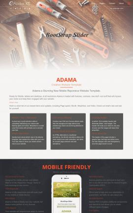 Adama Construction Website Template