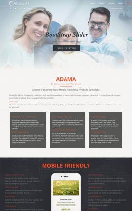 Adama Dental Website Template