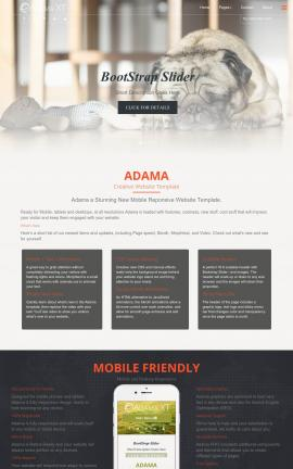 Adama Dogs Website Template