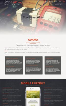 Adama Electrical Website Template