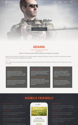 Adama Fishing Website Template