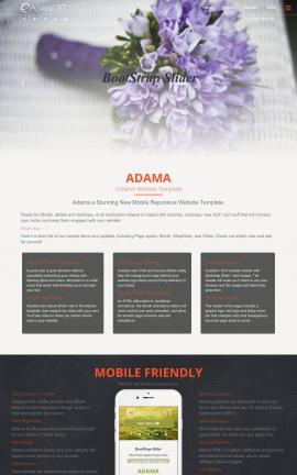 Adama Floral Website Template