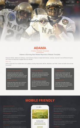 Adama Football Website Template
