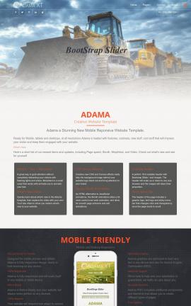 Adama Heavy-machines Website Template