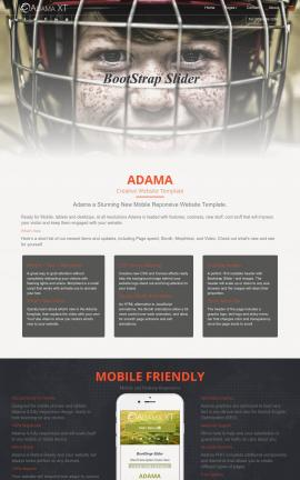 Adama Hockey Website Template