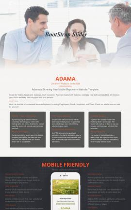 Adama Insurance Website Template