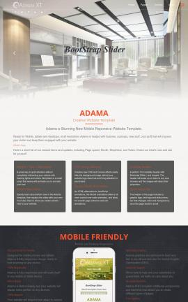 Adama Interior-design Website Template