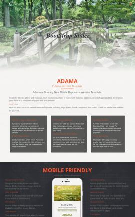 Adama Landscaping Website Template