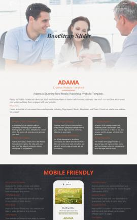 Adama Law Website Template