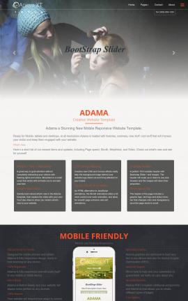 Adama Makeup-artist Website Template