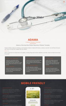 Adama Medical Website Template