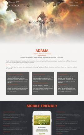 Adama Motocross Website Template