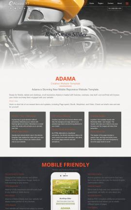 Adama Motorcycle Dreamweaver Template