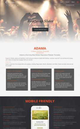 Adama Night-club Website Template
