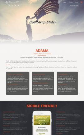 Adama Patriotic Web Template