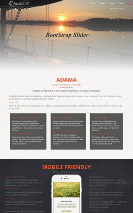 Adama Sailing Website Template