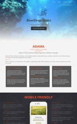Adama Scuba-diving Website Template