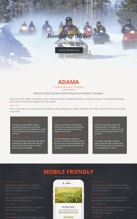 Adama Snowmobile Website Template