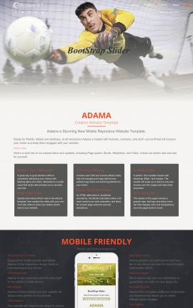 Adama Soccer Website Template