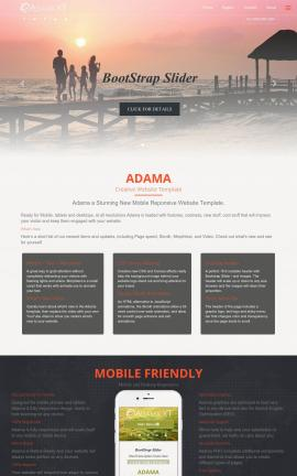 Adama Travel Website Template