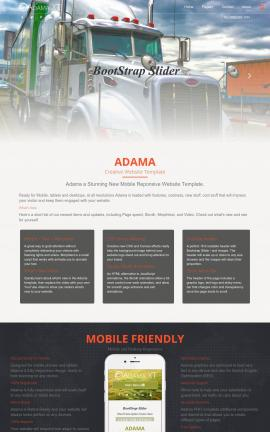 Adama Trucking Website Template