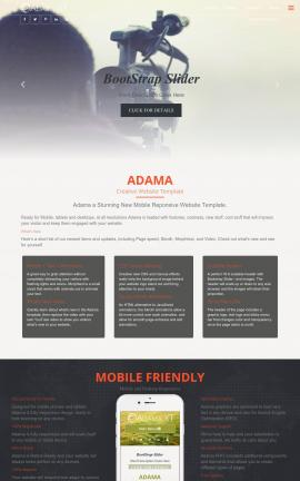 Adama Videography Website Template