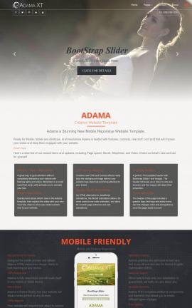Adama Wedding Website Template