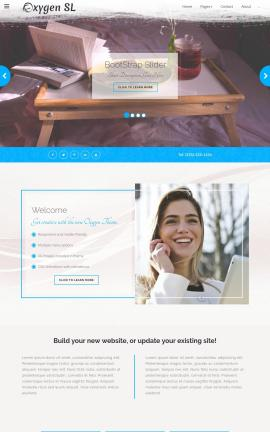 Oxygen Bed-and-breakfast Website Template