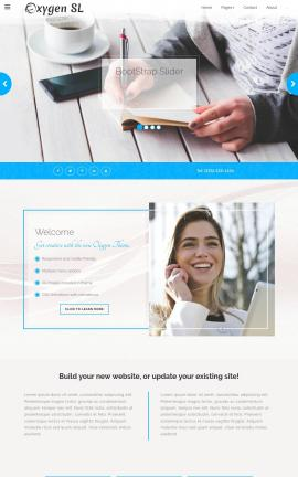 Oxygen Business Website Template