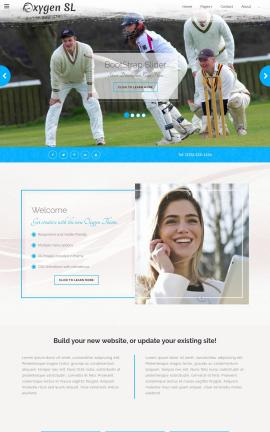 Oxygen Cricket Website Template