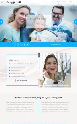 Oxygen Dental Website Template