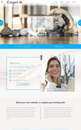 Oxygen Dogs Website Template