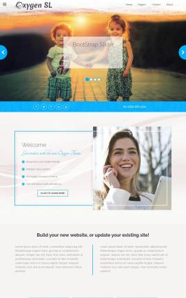 Oxygen Family Website Template